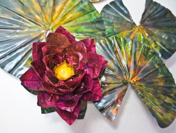 Origami Lily - Copper, Ink $810