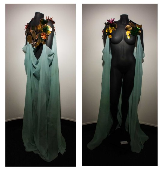 Ophelia - Copper, Ink, Fabric $650