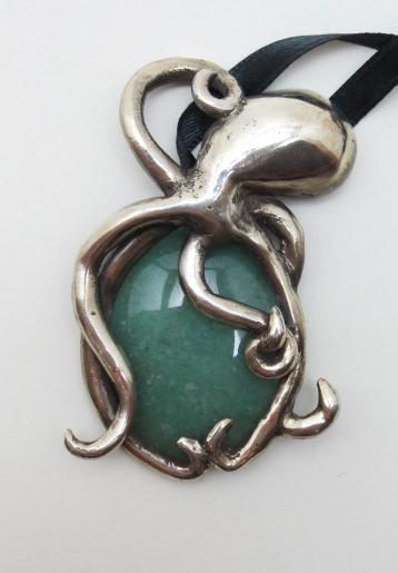 Octopus Embrace - Silver, Aventurine 2012