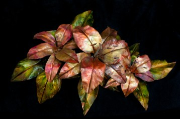 Lily Sculpture - Copper, Ink $335